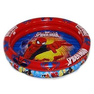 Saica- Piscina 90cm Ultimate Spiderman, Color Azul y roja (1)