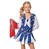 NEU Kinder-Kostüm Cheerleader, blau-weiß, Gr. 152