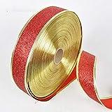 200X5 cm Schöne Metallic Glitter Bänder Für DIY Handwerk Nähen Stoff Weihnachten Party Hochzeit Liefert Geschenk Wrap - Rot
