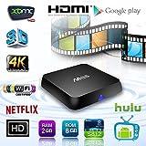 YUNTAB M8S TV Box 4K TV Box Android 4.4 Quad Core Amlogic s812 GPU Octa Core Multimedia Streaming Player H.265 8GB FLASH 2GB DDR3 Wifi RJ45 Ethernet Bluetooth Support HDMI Tv Box KODI XBMC CLOUD TV