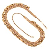 #3: I Jewels Traditional Gold Plated Stone Studded Kamarband for Women (B023)