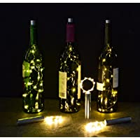Festa luci forma in sughero per bottiglia Halloween 15Micro Warm White LED 30pollici 3pk