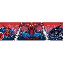 Marvel Spider-Man e instrucciones para hacer cenefa de papel pintado de