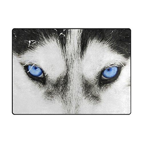 MyDaily Augen der Husky Hund Bereich Teppich 4'x 5' 7,6cm Wohnzimmer Schlafzimmer Küche dekorativ leichtem Schaumstoff Teppich, Bedruckt, Polyester, Multi, 4'10
