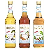 Produkt-Bild: Monin Light Set (3 x 0.7l Flaschen: Vanille Light, Caramel Light, Haselnuss Light)