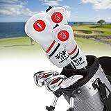 Songway - Set di 3 copritesta per Mazze da Golf, per 1, 3, 5 Driver e Copertura in Legno Fairway, Protezione per Mazze da Golf, Infradito Colorati Estivi, con finte Perline