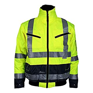 Asatex 174ZG-3 XXL Prevent High Visibility Pilot's Jacket, Bright Yellow, 2X-Large