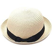 65697a7db90af Madre Y Yo Bebé Bowknot Niños Sombrero Transpirable Sombrero De Paja  Sombrero De Niños Sombrero De