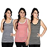 2DAY Women Stylish Strip Top (Pack of 3)