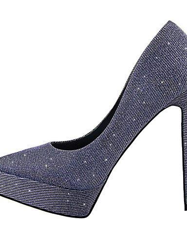 WSS 2016 Chaussures Femme-Extérieure / Bureau & Travail / Soirée & Evénement-Noir / Bleu / Rose / Argent / Gris / Or-Talon Aiguille-Talons / Bout pink-us7.5 / eu38 / uk5.5 / cn38