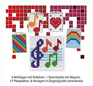 Pracht Creatives Hobby P90045-63501 - Juego de Manualidades para Manualidades (24 Piezas, para 4 medallones, Llavero, para niños, niños y niñas, Ideal como pequeño Regalo, para cumpleaños Infantiles)