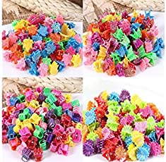 SMARTBUYER-12 PCS Baby Girl lady PLASTIC BUNNY,BUTTERFLY AND HEART SHAPE MIX Mini Hair Claw Clamp Hair Clip Hair Pin new,(Pack 12 pcs) MULTICOLOR