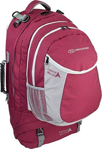 HIGHLANDER mochilas Explorer, color morado - rosa, tamaño 66 x 34 x...