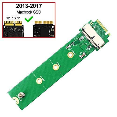 GODSHARK PCIe SSD auf M.2 Key M Adapterkarte für 2013 2014 2015 2016 2017 MacBook Air Pro Retina Festplatte Konverter zu Ngff M2 unterstützt Modell A1465 A1466 A1398 A1502