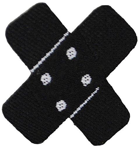 alles-meine.de GmbH 3 Stück _ Bügelbilder -  kleines Pflaster - schwarz  - 2,5 cm * 2,5 cm - Aufnäher & Applikationen - gewebter Flicken - Bügelflicken / Hosenflicken - Bügelst.. -