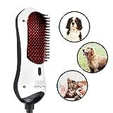 Juchen - Spazzola Professionale 2 in 1 per Animale Domestico, velocità del Vento Regolabile, Pettine Intercambiabile, per Cani e Gatti