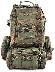 SODIAL(R) 50L Mochila Militar Tactica para Senderismo Campamento al Aire Libre - Jungla Digital