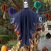 Halloween Hanging Pirate Decoration Witch Prisoner Reaper Ghost Pendant with Eye Patch Prop Decoration Life-Size Scale Head Halloween Hanging Pirate Decoration