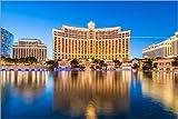 Posterlounge Stampa su Legno 180 x 120 cm: Bellagio Casino, Las Vegas di Editors Choice
