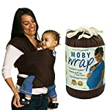 Shsom Atmungsaktive Babyschlingen, Und Leichtes Tragetuch Für Neugeborene Von Geburt Baby Wrap, Bambus-Baumwolle-Elastane, Für Neugeborene-35 Lbs,Brown