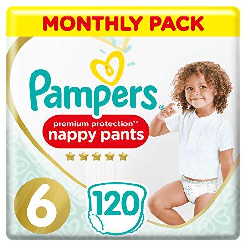 Pampers Premium Protection Windelhose Gr. 6 120 Windelhosen 15kg + Monatspackung Sanftes Hautgefühl In Easy-On Windelhose Größe 6120