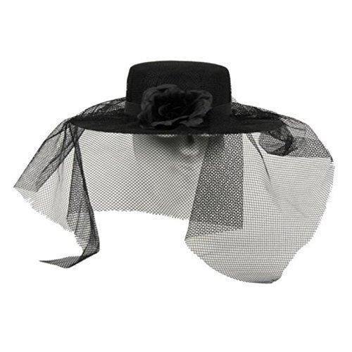 rzer Damenhut mit Schleier / Kostümzubehör 20 er / 20er Jahre (Schwarze Witwe Kostüm Kinder)