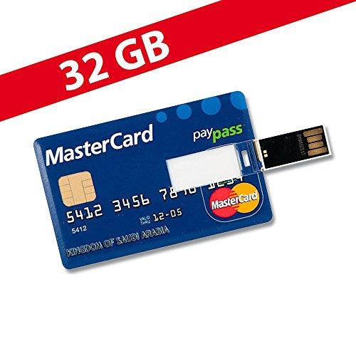32 GB Speicherkarte in Scheckkartenform MasterCard USB Stick Datenspeicher