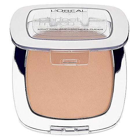 L'Oréal Paris Perfect Match Compact Puder, K5 Sable Rose / Make Up Puder mit individueller Deckkraft und LSF, für jeden Hauttyp / 1 x 9 ml