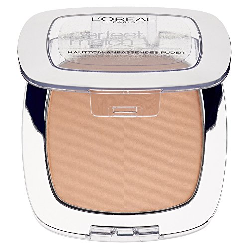 L'Oréal Paris Perfect Match Compact Puder, 5.R/5.C Sable Rose/Hautton-Anpassendes Puder/1 x 9 ml