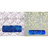 Fenteer 2pcs Pintura Pintura Rodillo Cepillo Pared Arte Decorativo Piel Herramienta De Mano Bricolaje