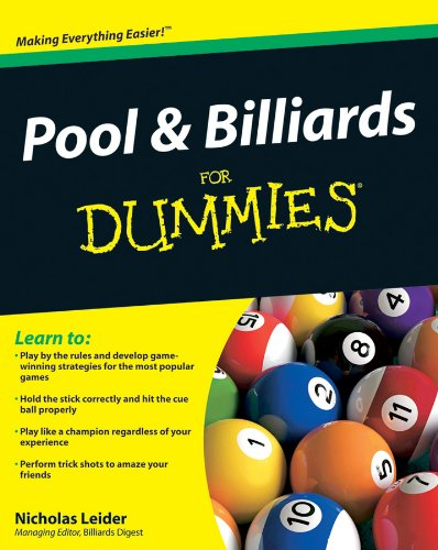 Pool and Billiards For Dummies por Nicholas Leider