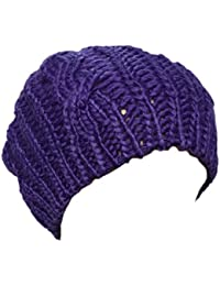 Nouveautés Lady Hiver au Chaud Tricot Crochet Slouch Baggy Beret Bonnet Cap par Boolavard® TM - Noir, Rouge, Rose, etc.