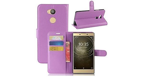 Ample/® Coque pour Sony Xperia XA2/Ultra en cuir PU de qualit/é premium  avec pochette pour carte /à cr/édit 15,2/cm