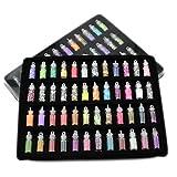 xshelley 48Spalten Nail Art Dekoration, Nail Art Designs, 3D-Nagel-Glitter, Nägel Art, Nail Art Kit, Nail Art Supplies, verschiedene Styles mit Mini Flaschen, für Kunst-Projekte, Gesicht, Nail, DIY Basteln