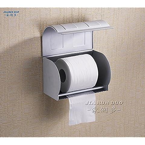 LLLDB spazio allungato completamente in alluminio racchiuso nella casella di carta asciugamani di carta igienica rack di supporto del rotolo di carta S tipo , lunga scatola di carta 24cm (può essere collocata al di sotto)