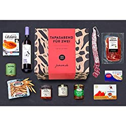 Präsentkorb - Ein Tapas-Abend für Zwei - Geschenk-Idee für Genießer, Gourmets & Freunde der spanische Küche
