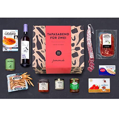 Präsentkorb – Ein Tapas-Abend für Zwei – Geschenk-Idee für Genießer, Gourmets & Freunde der spanische Küche