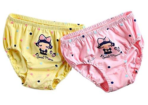 [Süße Zeit] Mädchen weichen Baumwollhöschen bequeme Unterwäsche, 2ST