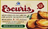 Escuris Mejillones Escabeche Fritos en Aceite de Oliva - 3 Paquetes de 111 gr - Total: 333 gr