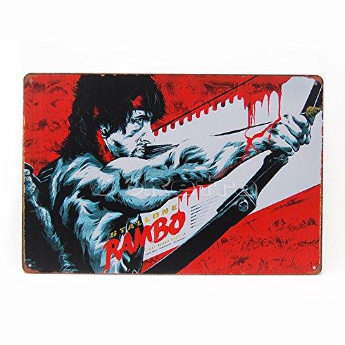 Rambo: First Blood Teil II (1985) (0401022), Metall blechschild, 20cm x 30cm, Wand Deko Schild von 66retro
