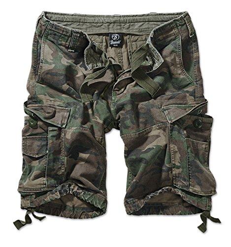 Camo Shorts Herren (Brandit Vintage Short  Gr:- L, Farbe:-Woodland)