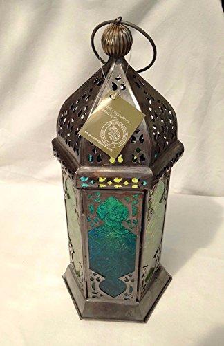 Marokkanischer Stil Glas Laternen Fair Trade Sekunden türkis oder violett RRP 30,78€, türkis, 13 x 13 x 30cms approx Marokkanische Laterne Türkis