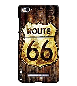 Omnam Route 66 Effect On Wood Printed Designer Back Cover Case For Xiaomi Mi4i