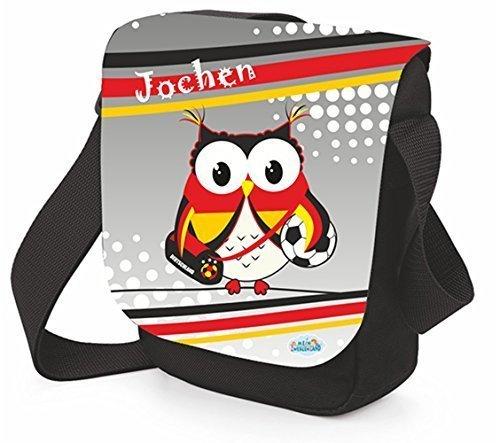 Schultertasche mit Weltmeistereule Brotdose Umhängetasche Schultertasche (Tasche mit Brotdose) Tasche einzeln