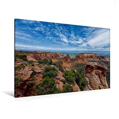 Calvendo Premium Textil-Leinwand 120 cm x 80 cm Quer, Colorado National Monument, Colorado | Wandbild, Bild auf Keilrahmen, Fertigbild auf Echter Leinwand, Leinwanddruck Orte Orte