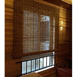 Bambus Vorhang Schilf Hebe Rollos römischen Vorhang, Heimtextilien Teestube Studie Korridor, Regen und Schimmel, Unterstützung Anpassung