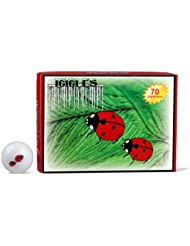 ICICLES Women's V Golf Lady Bug Logo Ball, White by Icicles