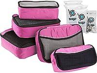 Packing Cubes 5pcs Value Set for Travel - Bago Luggage Organizer Cubes (Pink)