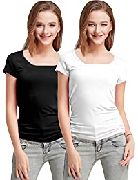 Fashion Line Premium Quality Stylish Printed Round Neck T Shirts For Women _Material : Cotton