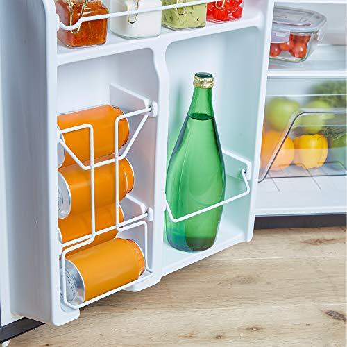 51UWlx%2Bpc7L. SS500  - VonShef 85L Freestanding Under Counter Fridge Freezer With Reversible Door, Adjustable Temperature Control and Internal…